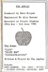 The Apples demo tape - inside