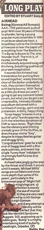 Boing!! review, NME January 1992